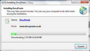 DocuPraxis will download and install